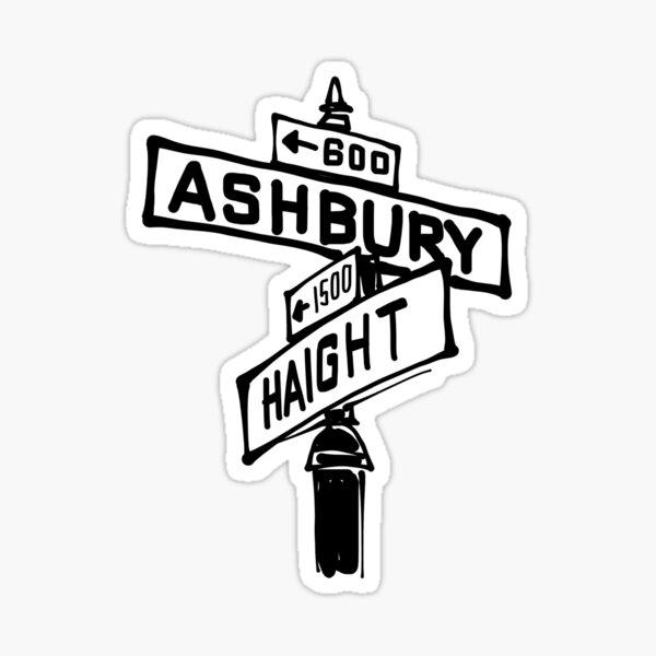 Panneau de rue Haight x Ashbury Sticker