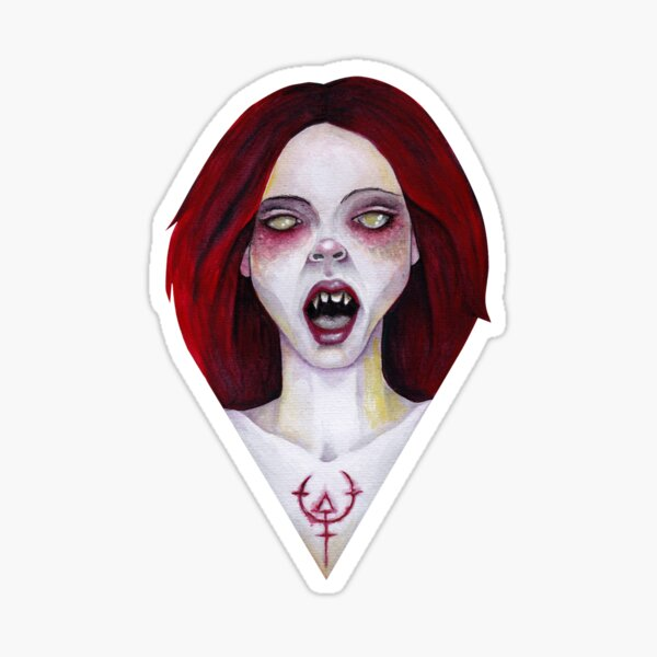 The Fanged Lady Sticker