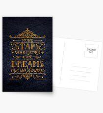 Zu den Sternen, die zuhören Postkarten