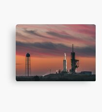 Spacex Falcon Heavy Epic Sky Canvas Print