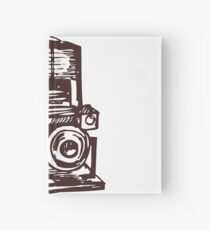 retro camera Hardcover Journal