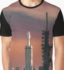 Spacex Falcon Heavy Epic Sky - 60 MegaPixel image Graphic T-Shirt
