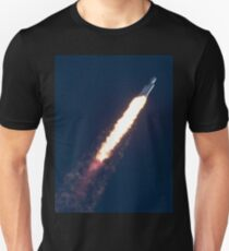 Spacex Falcon Heavy In The Sky Unisex T-Shirt