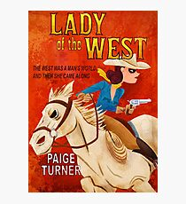 Paperback the Game - Lady of the West Official art from Fowers Games Photographic Print