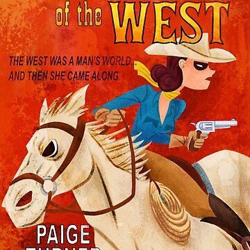 Paperback the Game - Arte oficial de Lady of the West de Fowers Games de goldsberryart