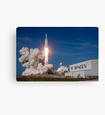 Spacex Falcon Heavy Lift Off  Canvas Print