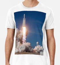 Spacex Falcon Schwerer Abheben Premium T-Shirt