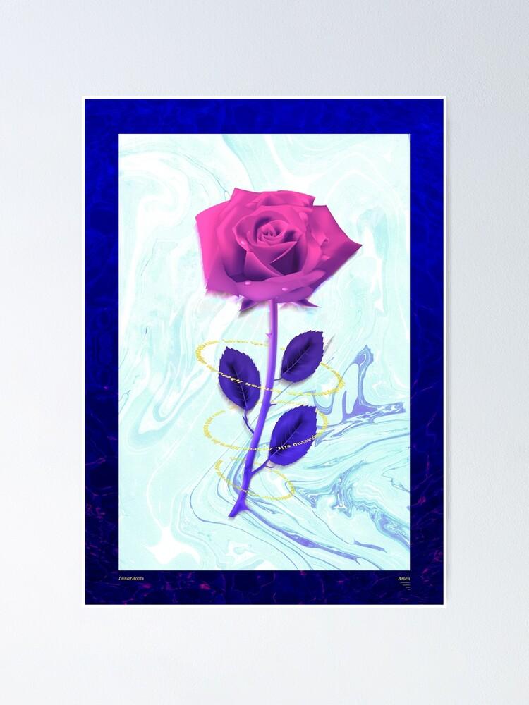Alternate view of Arien Rose Poster