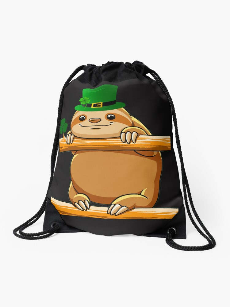 dfe4b29b Cute Happy Irish St Patrick's Sloth T Shirts Gifts for Women Men Sloths  Lovers Drawstring Bag
