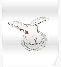Boris the Rabbit (Transparent) Poster