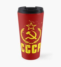 Communist CCCP Flag Travel Mug