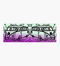 Volkswagen T2 purple green Photographic Print