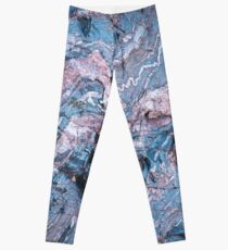 Compression lines in blue rock, Bright Angel Trail, Grand Canyon USA Leggings