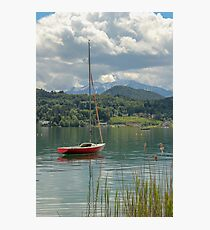 Boat on an Austrian Lake Photographic Print