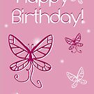 Girl's Birthday Butterfly by Shannon Kennedy
