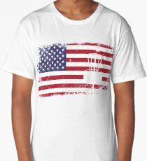 usa flag disc golf  Long T-Shirt