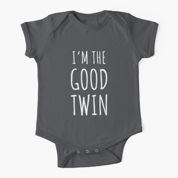 I'm The Good Twin - Matching Evil Twin Design Also Available! Short Sleeve Baby One-Piece