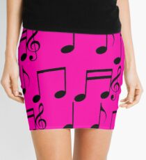 music notes music Mini Skirt