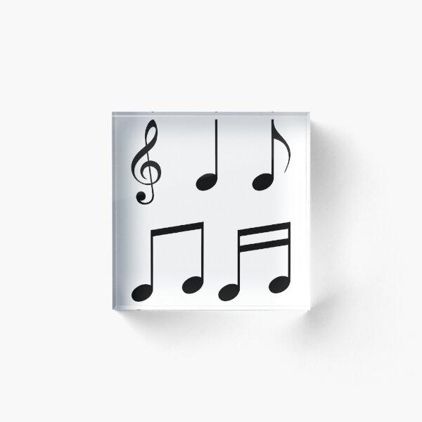 music notes music Acrylic Block