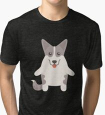 Cardigan Welsh Corgi Tri-blend T-Shirt