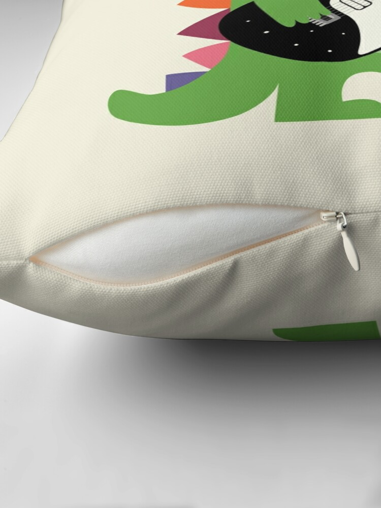 Alternate view of Croco Rock Throw Pillow