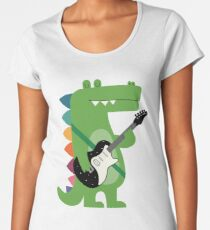 Croco Rock Women's Premium T-Shirt