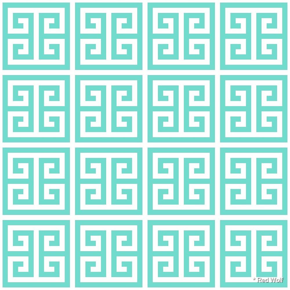 Geometric Pattern: Key Bridge: Blue by * Red Wolf