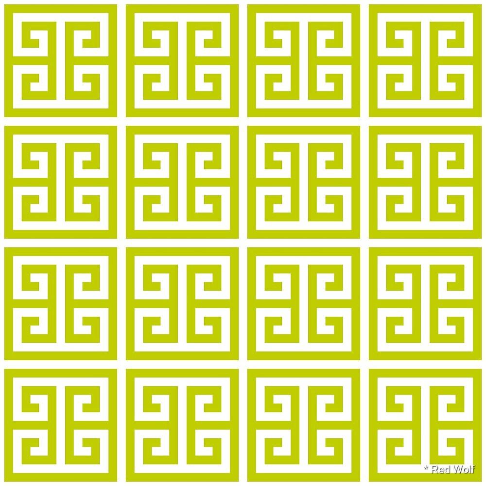 Geometric Pattern: Key Bridge: Green by * Red Wolf