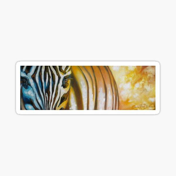Zebra at Sunset Sticker