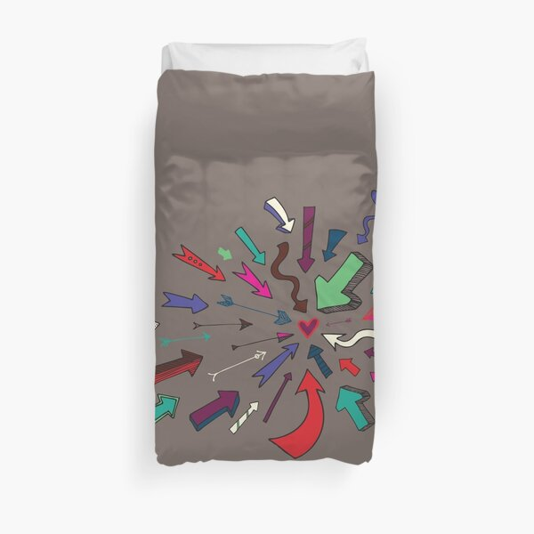 Arrows to your Heart - Valentine pattern by Cecca Designs Duvet Cover