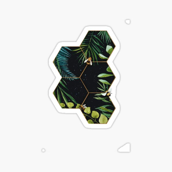Bee Green Sticker