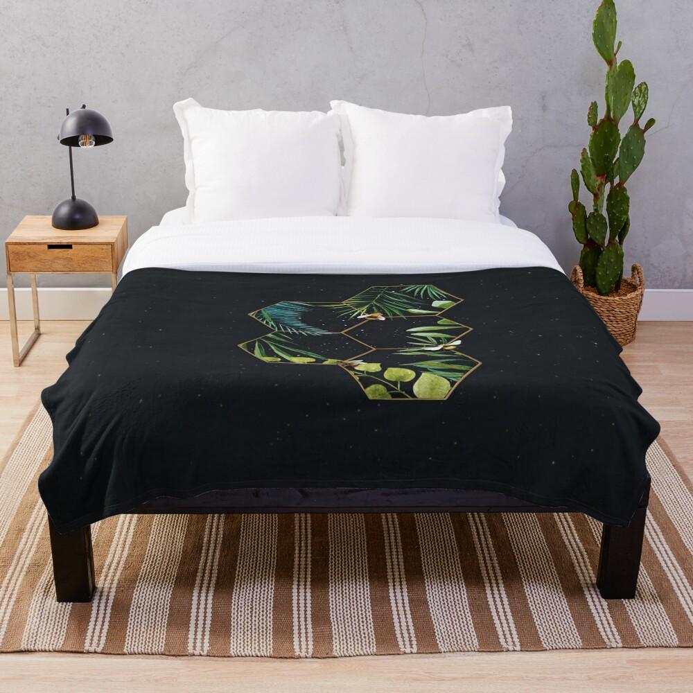 Bee Green Throw Blanket