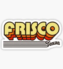 Frisco, Texas | Retro Stripes Sticker