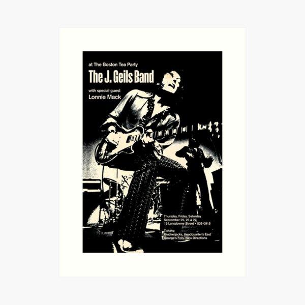 J. GEILS BAND VINTAGE POSTER Art Print