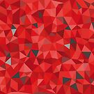 Red and gray triangular pattern - triangles mosaic by siloto