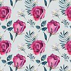 Pink roses by Emma   Reznikova