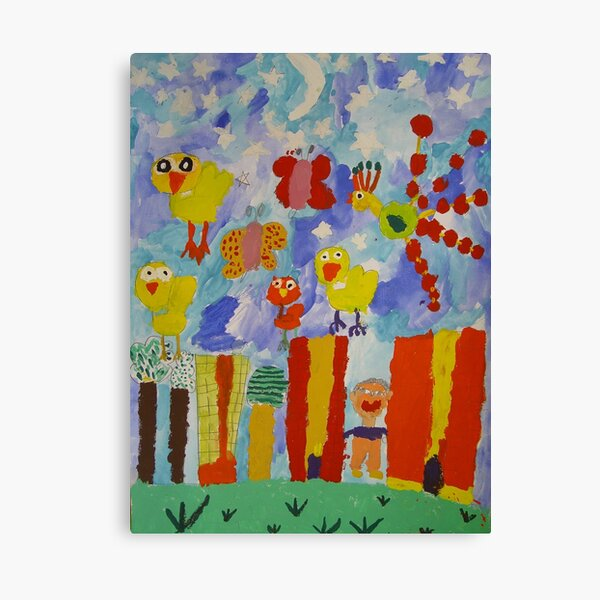 children's paintings Canvas Print