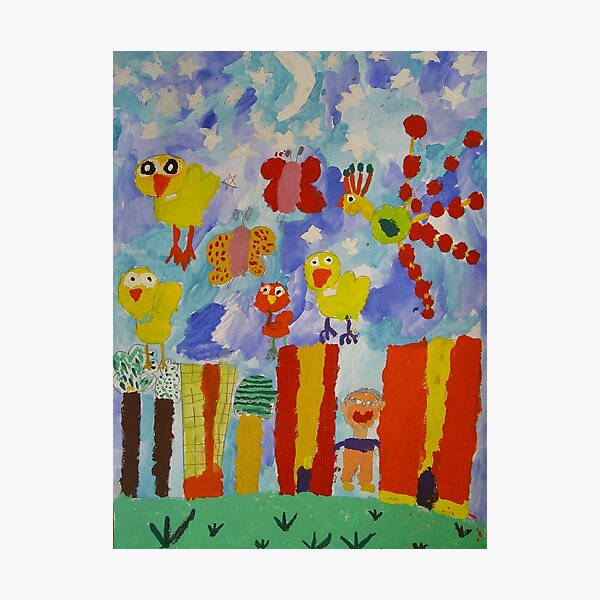 children's paintings Photographic Print