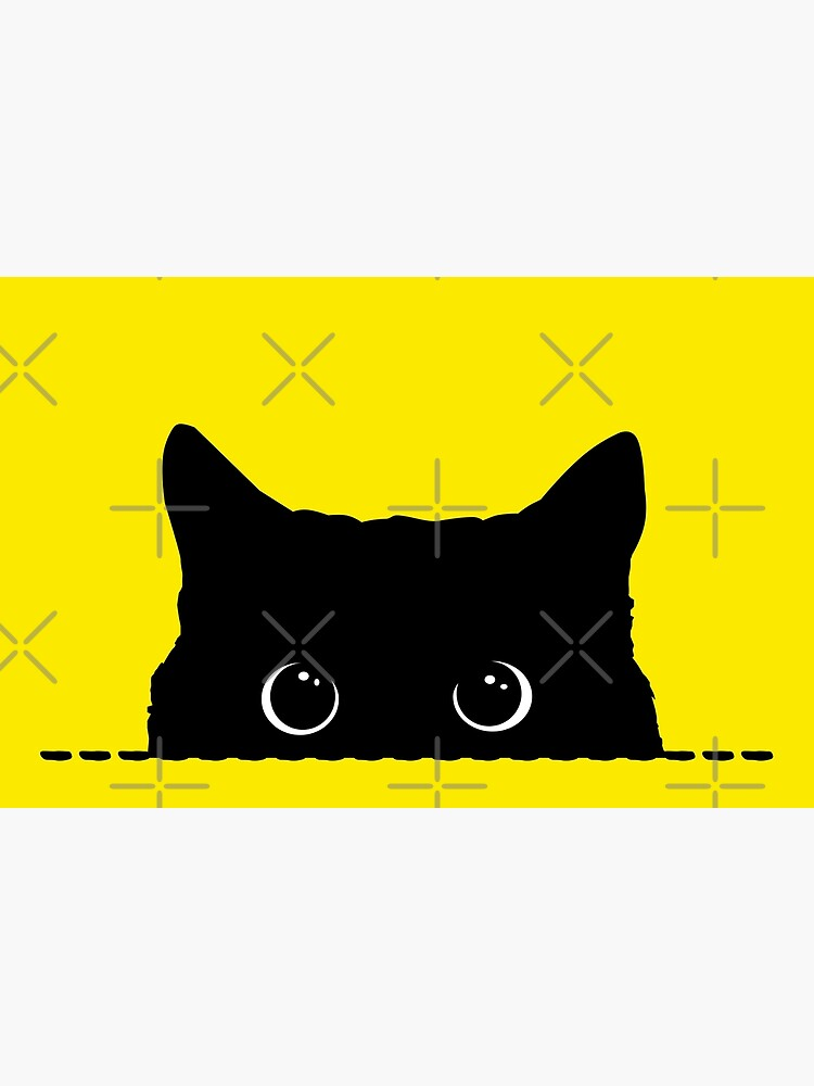 Black Cat Peeking  by nameonshirt