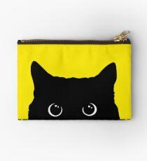 Black Cat Peeking  Zipper Pouch