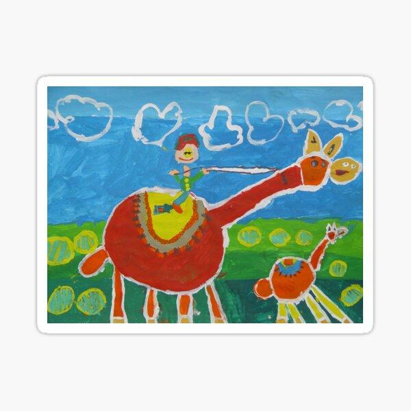 children's paintings Sticker