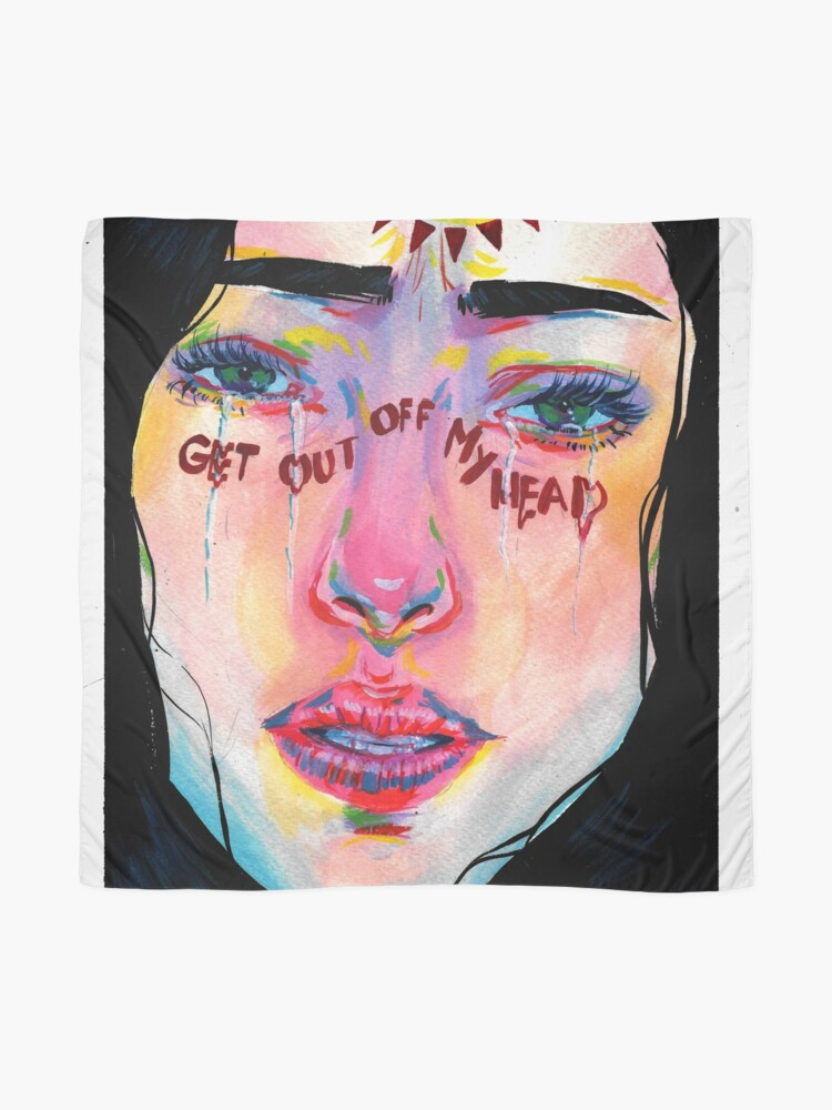 Alternate view of Get out of m head  Scarf