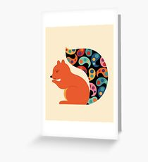 Paisley Squirrel Greeting Card