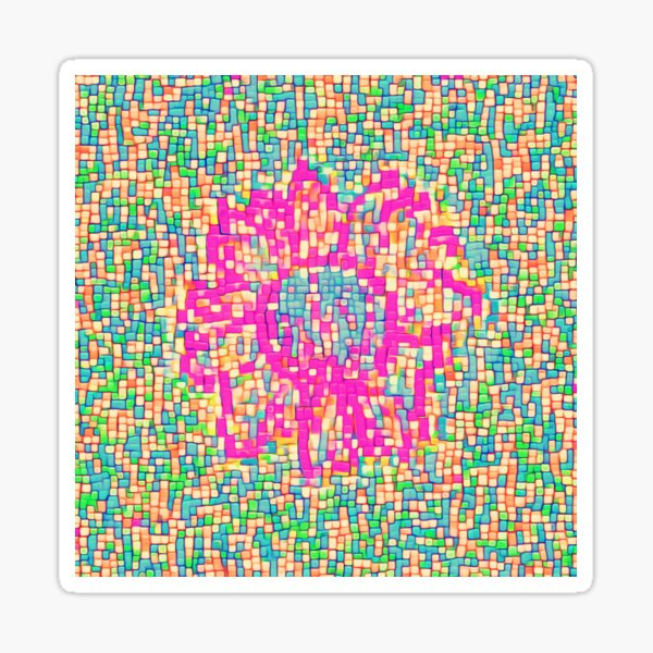 Abstract Flower Sticker