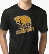 Down Rowdy the Dog Tri-blend T-Shirt