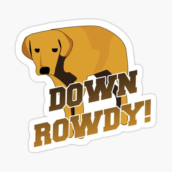 Down Rowdy the Dog Sticker