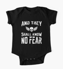 And They Shall Know No Fear 40k Marine Wargaming Tabletop Miniatures Gamer One Piece - Short Sleeve