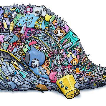Plastic Trash Whale by glenmc