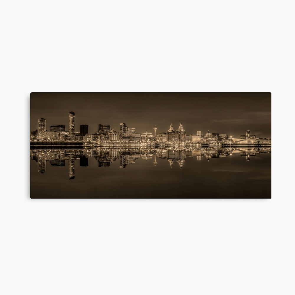Cathedral Liverpool England City Skyline St Johns Beacon Royal Liver Bedro