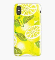 Lemon background iPhone Case